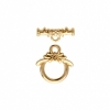 Toggle Petite Flower 10mm Gold